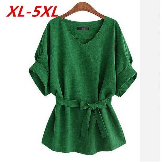 2018 Summer Kimono Plus Size 5Xl Vintage Bat sleeve Women Blouses <font><b>Loose</b></font> Casual Ladies Shirt Tops Blusas Chemise Vetemen Femme