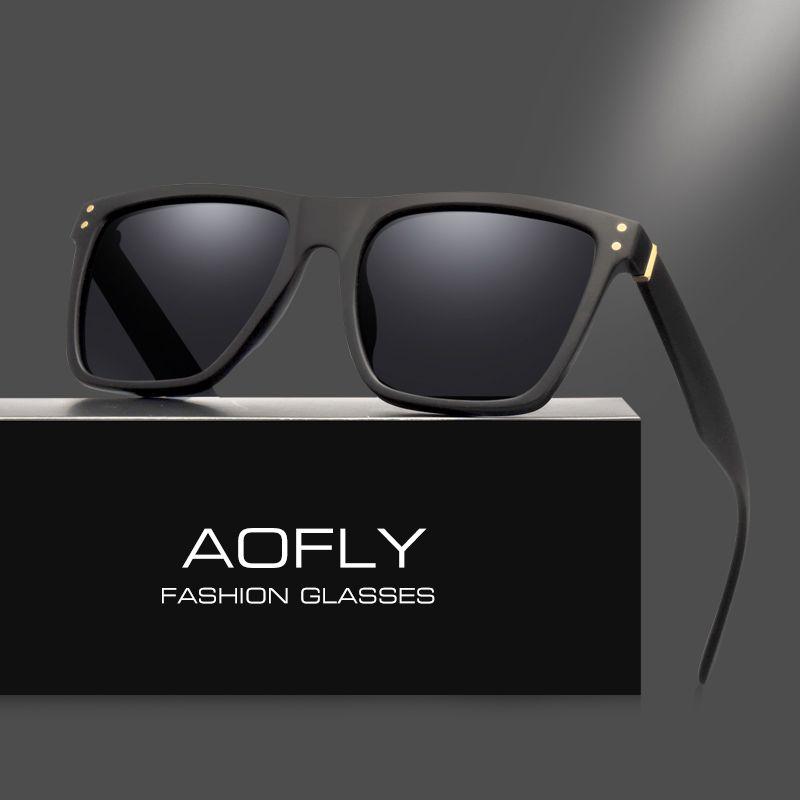 AOFLY Männer Polarisierte Sonnenbrille Vintage Männlichen Sonnenbrille Polaroid linsen Mode Markendesigner Brille Oculos Gafas De So AF8033