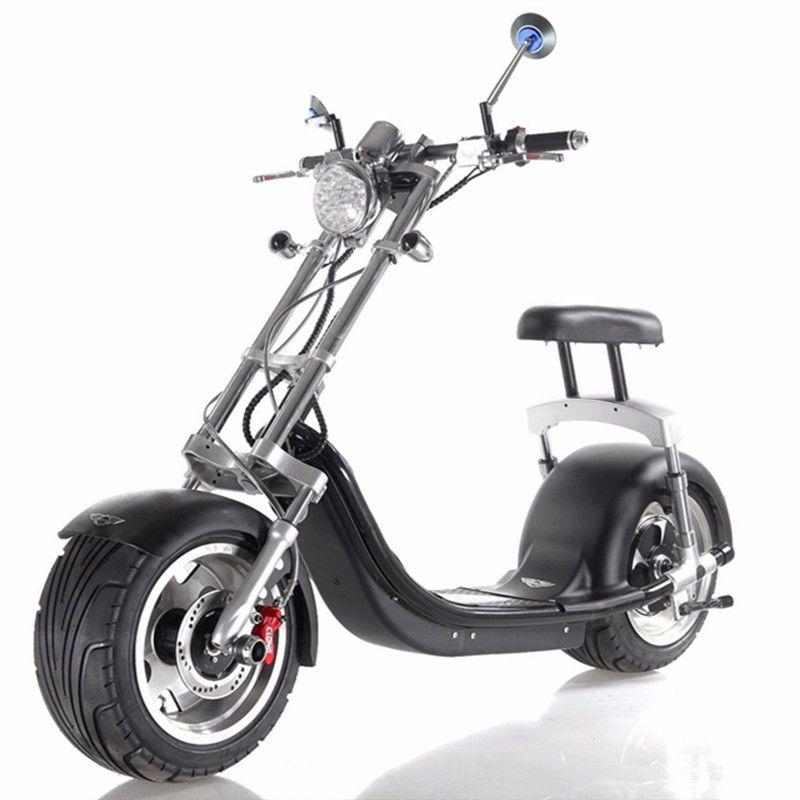 18*9,5 Auto Reifen Seev Citycoco Harley Stil 1200 Watt Brushless 2 Rad Elektroroller Motor 200 kg max last fat tire bike für Verkauf
