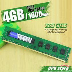 Nouveau 4 GB DDR3 PC3-12800 1600 MHz Pour PC De Bureau DIMM Mémoire RAM 240 broches Pour AMD Système Haute Compatible
