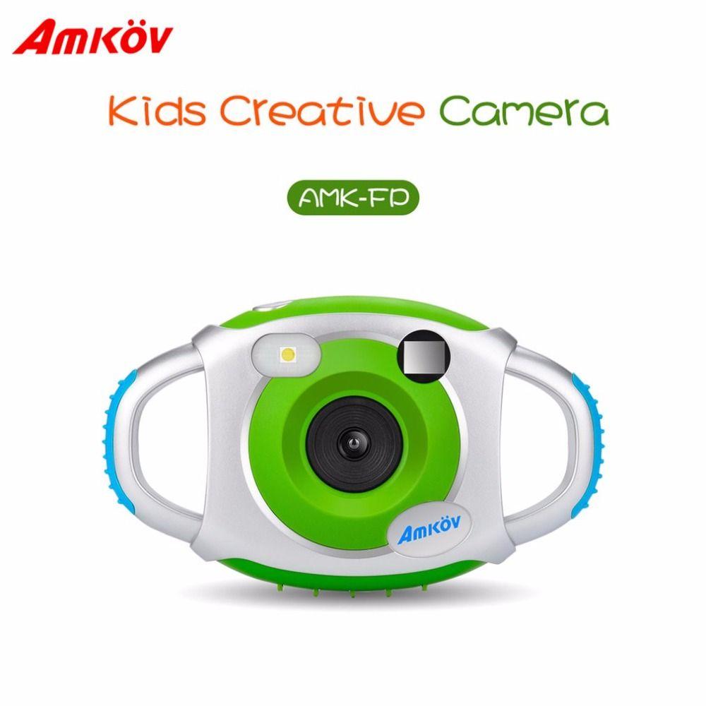 AMKOV-CDFP Cute Children 1.5 Inch 4X Digital Zoom Camera 5 Megapixel Multilanguage Educational Camera Fine Kids Gift