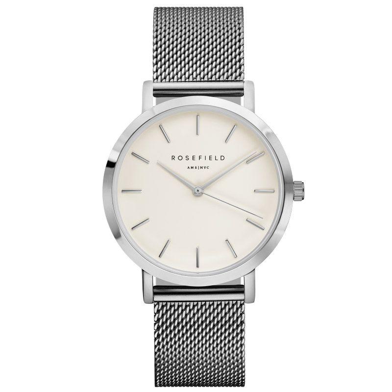 ROSEFIELTop Luxury brand Womens' Watches men Stainless Ultra-thin watch Steel Mesh strap band Quartz-watch thin Dial Clock 2017