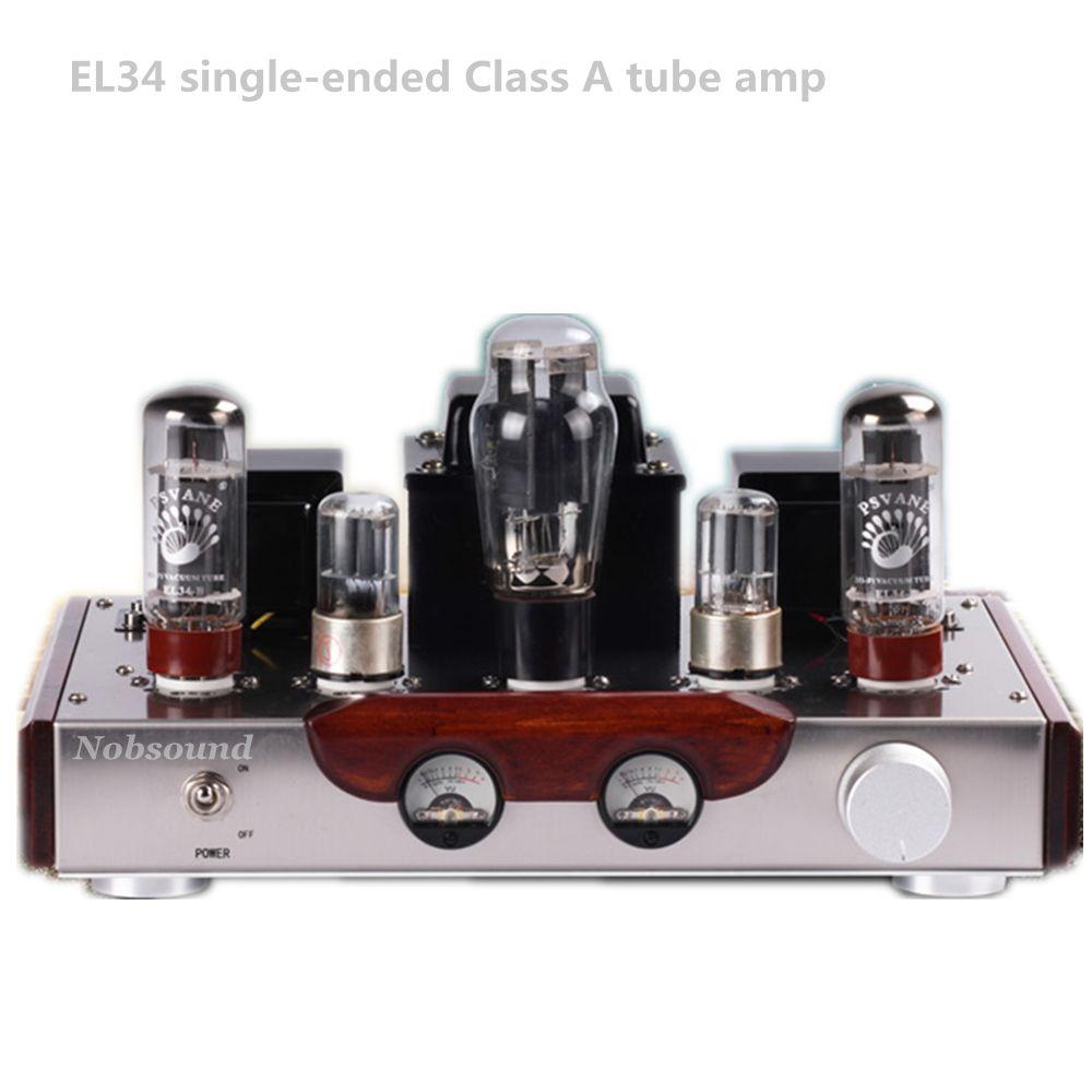 Nobsound Music - EL34 6N9P push el34 vacuum tube amplifier Class A hifi home audio speaker Bluetooth tube amplifier