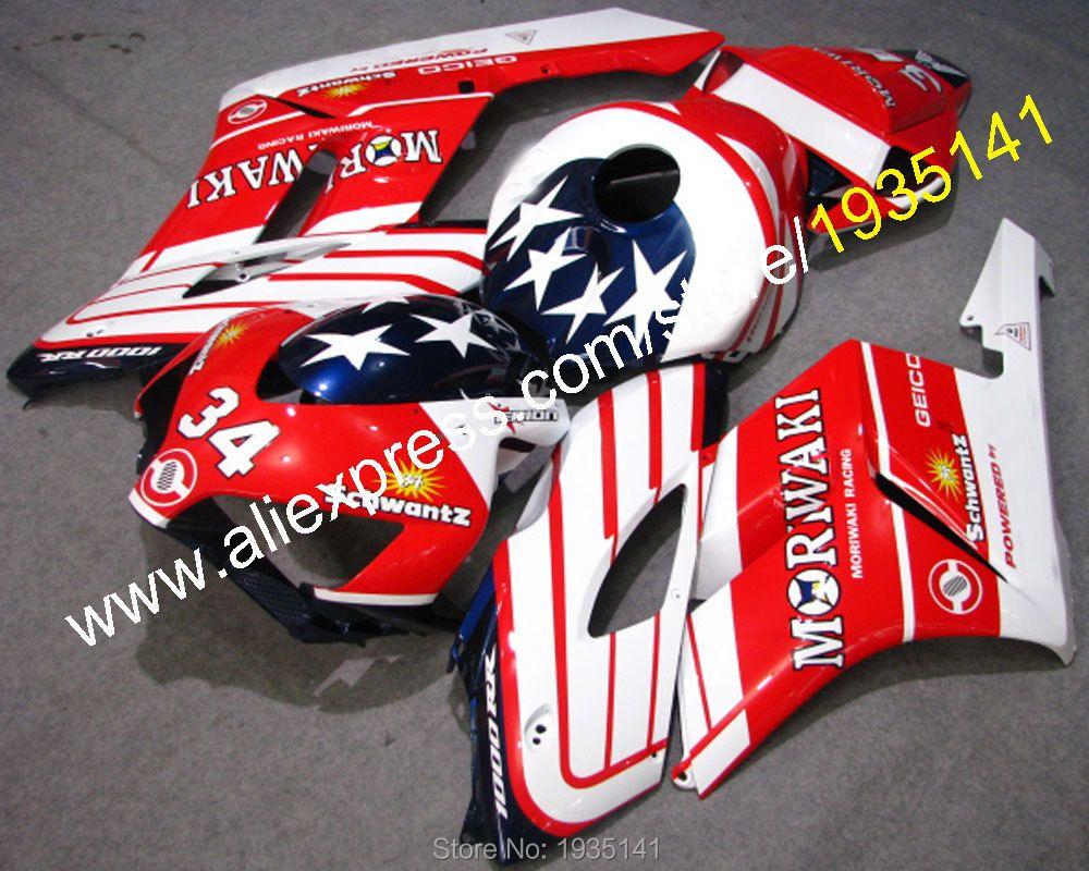 Hot Sales,For Honda CBR1000RR 2004 2005 CBR 1000RR CBR1000 04 05 power star red line motorcycle 34 Fairing (Injection molding)