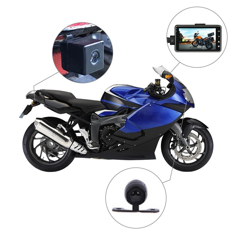 Camera DVR Motor Dash Cam with Special Dual-track Front Rear Recorder Motorbike Electronics KY-MT18
