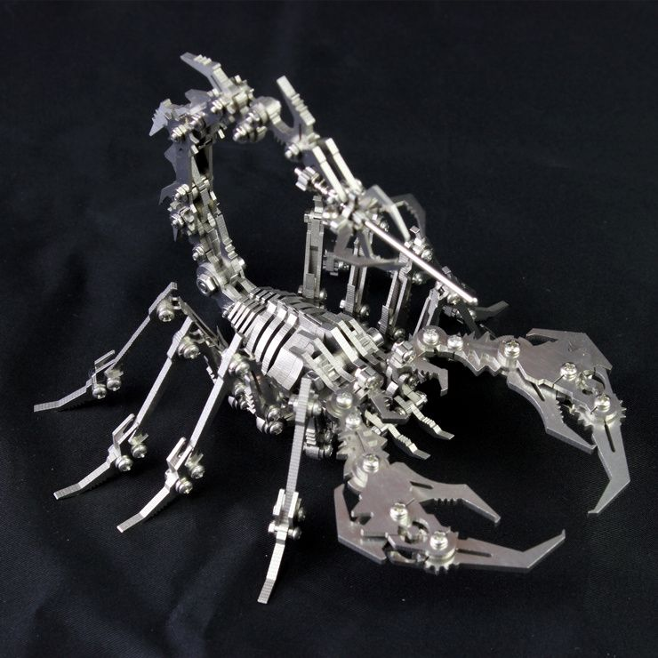 3D Metal Model Detachable Robot Insect Scorpion Finished product No Assembly Intelligence Toys Birthday Gift Decoration Crafts