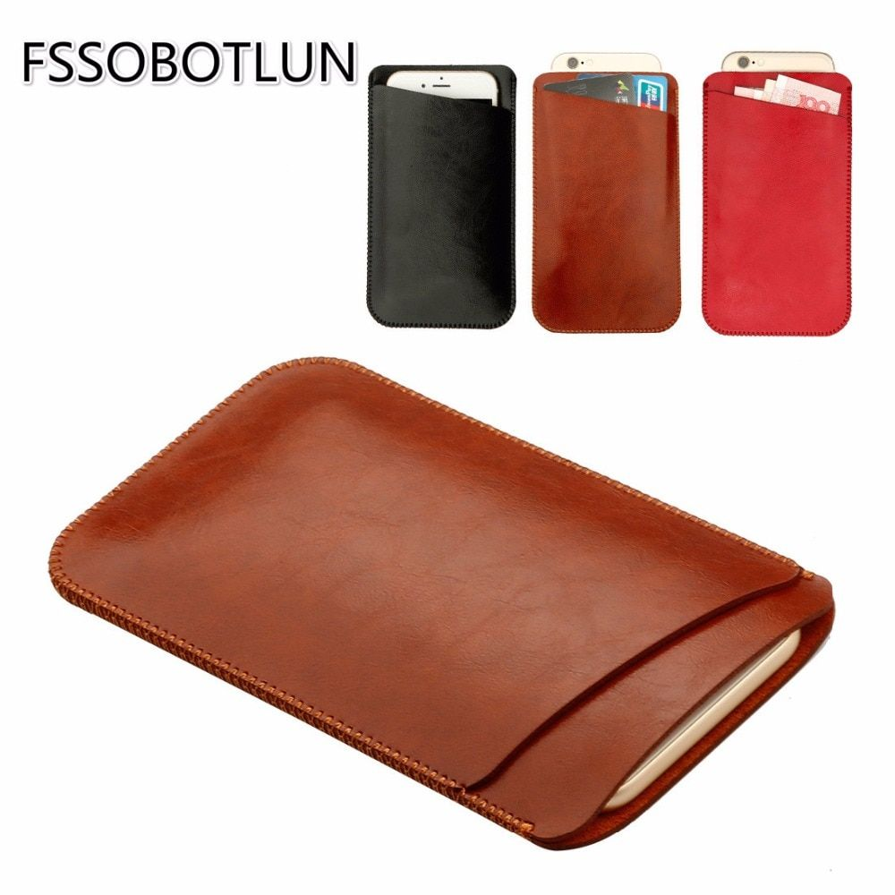 FSSOBOTLUN For Sony Xperia XA1 Ultra Case Double layer Microfiber Leather Phone sleeve Cover Pouch Pocket with Card Slot