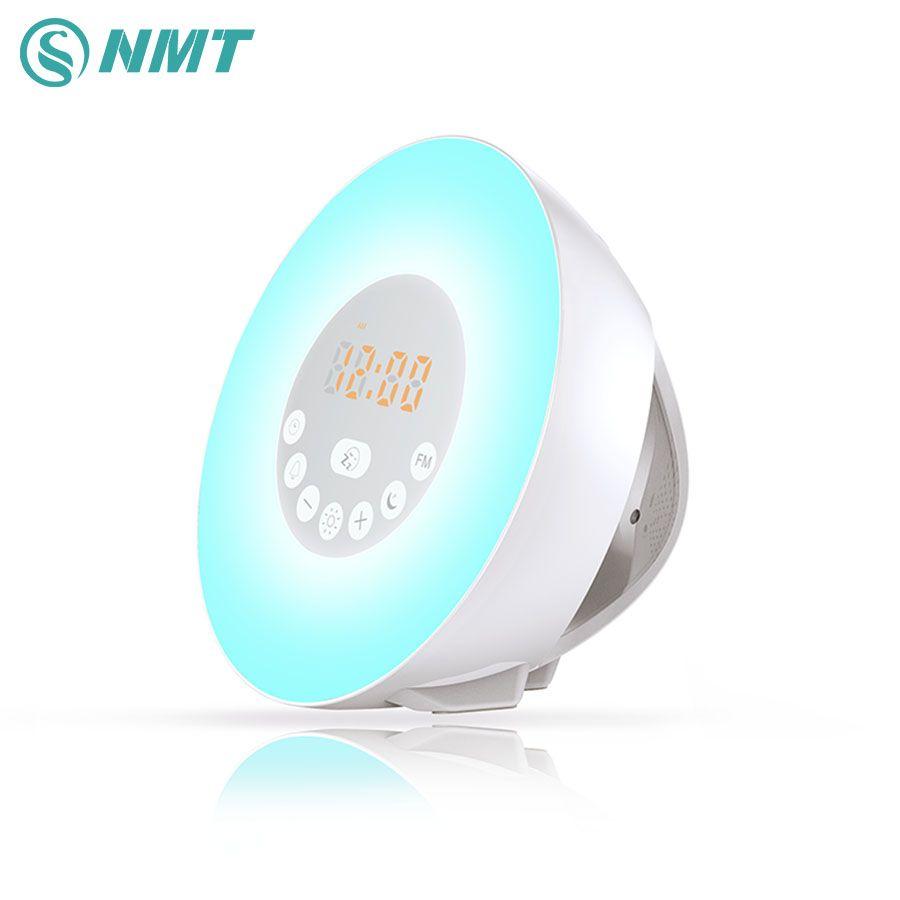 Высокое качество Восход светодиодный ночник будильник FM цифровой светодиодный свет Новинка Светодиодная лампа с красочными Wake Up Light