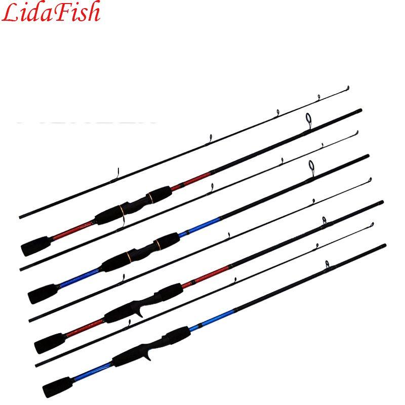 Lidafish2017 Новый 1.8 м красный и синий литья Рыбалка Род спиннинг уменьшить Длина 95 см Рыбалка rodlure rodfree доставки
