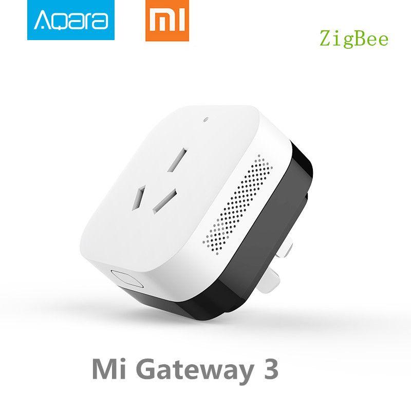 En Stock, Xiao mi Gateway 3 Aqara climatisation compagnon passerelle illu mi nation fonction de détection travailler avec mi Kits de maison intelligente
