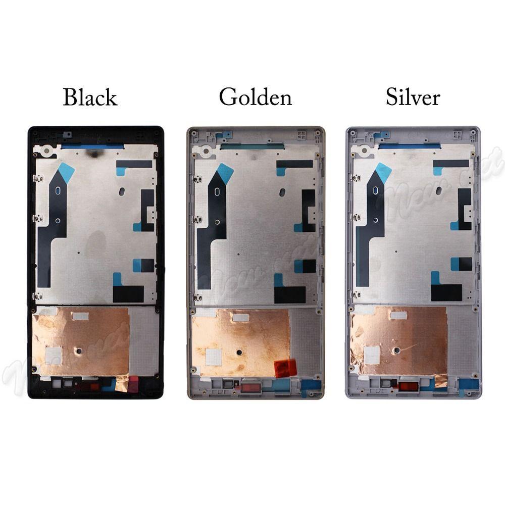 Pour Sony Xperia T2 Ultra boîtier couverture lunette milieu milieu cadre façade Xperiat2 pièces de rechange pièce réparation livraison gratuite