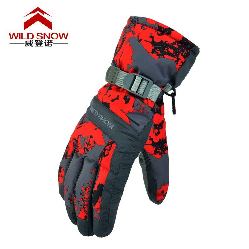 Ski Handschuhe Winter Outdoor Wasserdicht Winddicht Verdickung Warme Handschuhe Hersteller Low-cost Promotionen Snowboard Handschuhe
