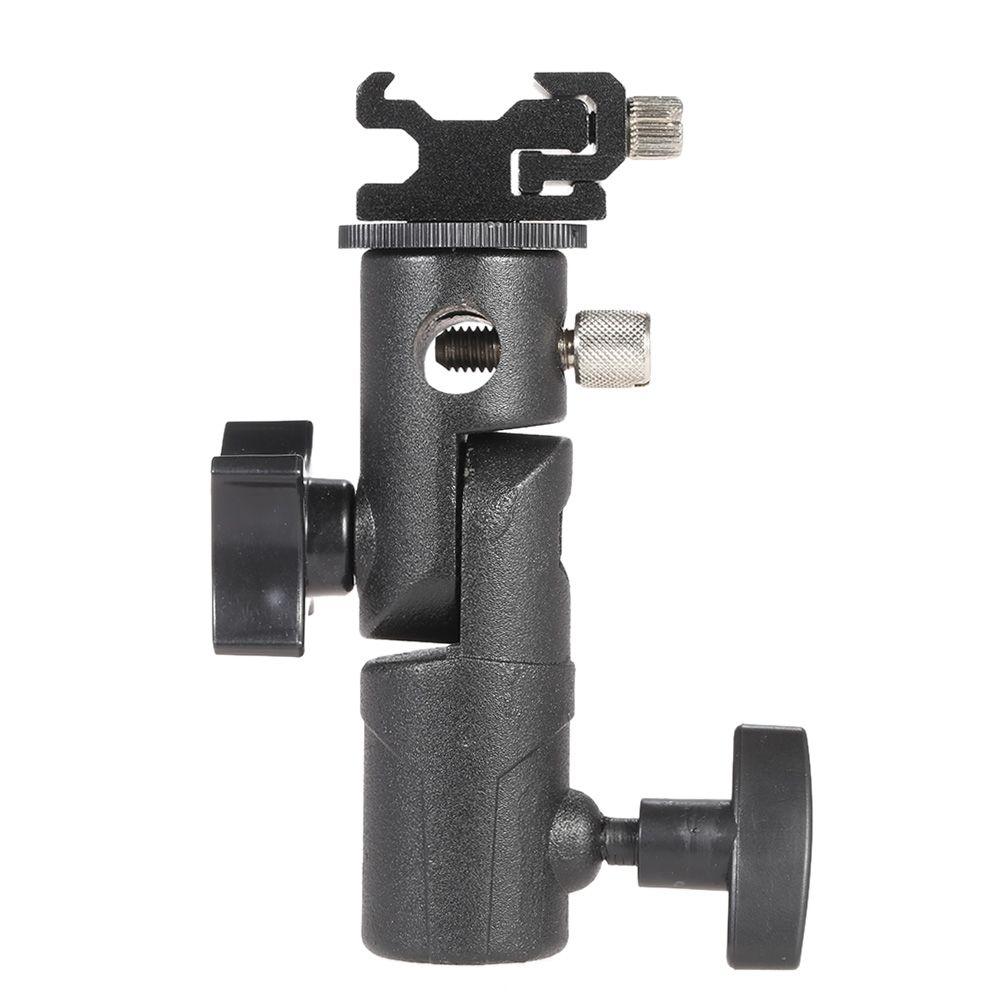 E Type Universal Metal Flash Hot Shoe Speedlite Umbrella Holder Light Stand Bracket with 1/4