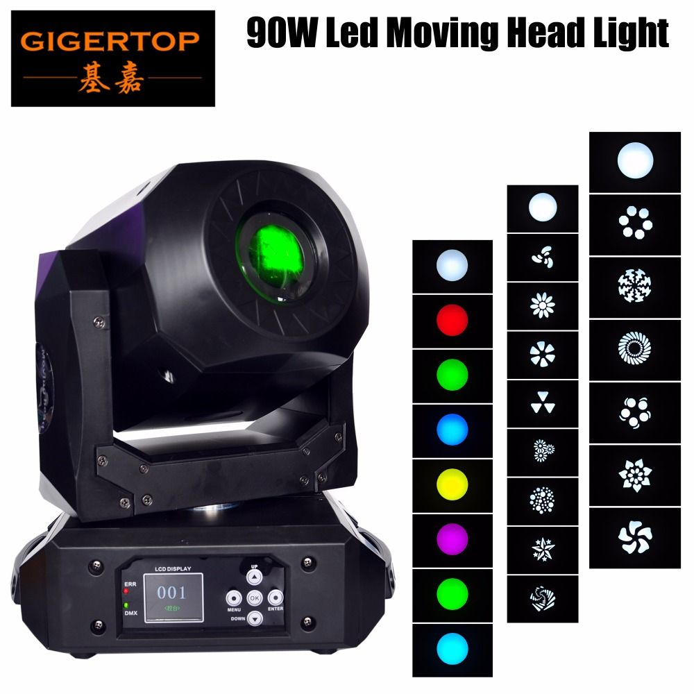 Gigertop New TP-L606E 90W Led Moving Head Light Compacted Size High Brightness For DJ Dancing Show Concert Xmas Halloween Day