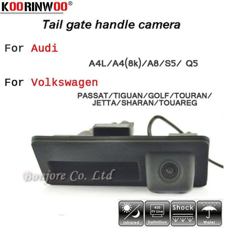 Caméra de recul Koorinwoo HD CCD poignée de voiture Parking caméra de recul pour Audi/VW/Passat/Tiguan/Golf/Touran/Jetta/Sharan/Touareg