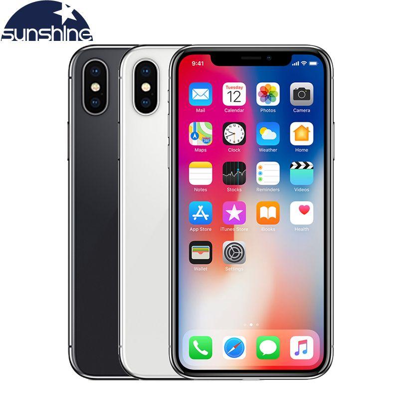 Original Entsperrt Apple iPhone X 4G LTE handy 5,8 ''12.0MP 3G RAM 64G/256G ROM Gesicht ID Handy