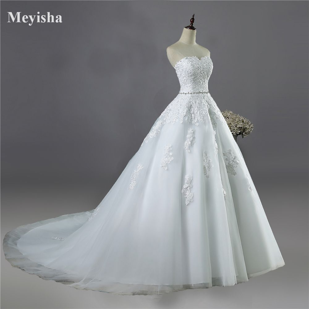 ZJ9032 <font><b>2017</b></font> lace flower Sweetheart White Ivory Fashion Sexy Wedding Dresses for brides plus size maxi size 2-26W