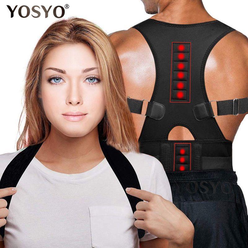 Correcteur de Posture thérapie magnétique orthèse épaule dos soutien ceinture pour hommes femmes bretelles et Supports ceinture épaule Posture