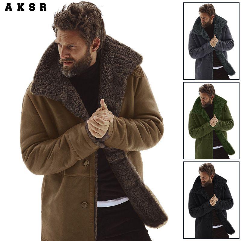 AKSR Männer der Winter Warme Padded Kaschmir Jacke Widerstehen Die Kalt Warm und Praktische Männer der Mantel