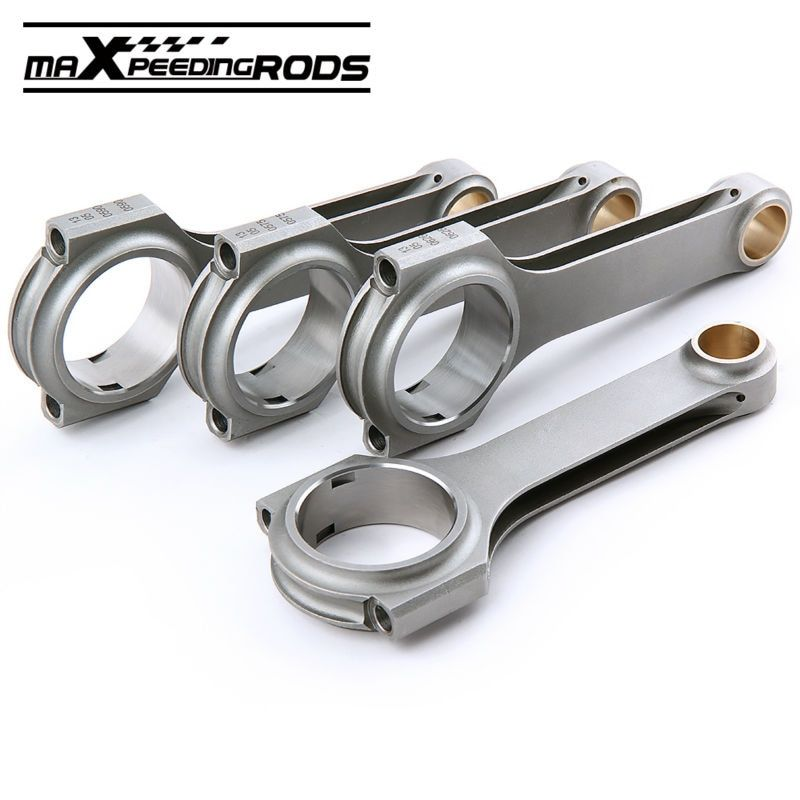4x Connecting Rod Rods Set for JDM Honda Civic CRX D16 D16A D16Y7 D16Y8 D16Z6 4340 Forged H Beam piston con rods car accessorues