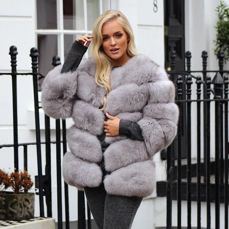 Echtpelz Mantel für Frauen Winter Jacke für Frauen Mode Natürliche Fuchs Pelz Frauen Kleidung 2018 Neue Echte echtem Fuchs pelzmantel Weibliche