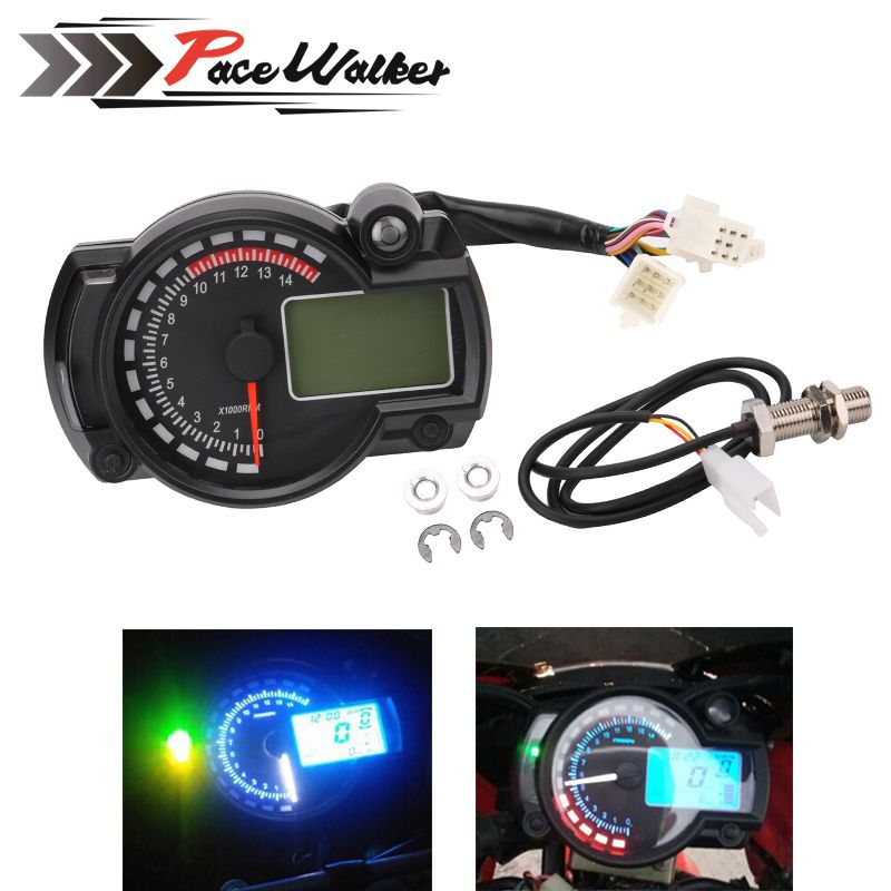 FREE SHIPPING 2016-2017 15000rpm modern RX2N similar LCD digital Motorcycle odometer speedometer adjustable MAX 299KM/H meter