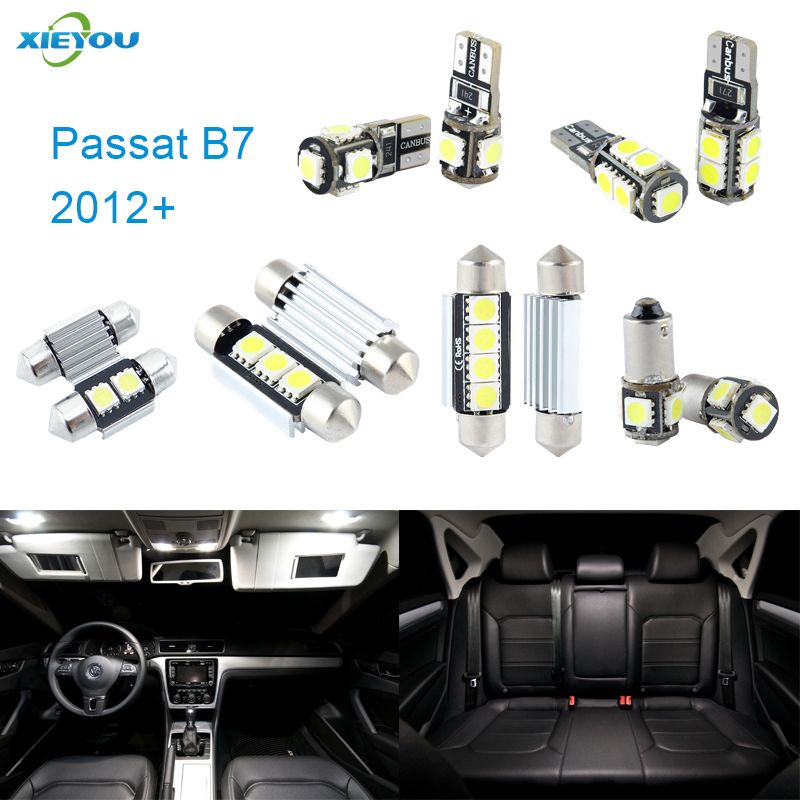 XIEYOU 14pcs LED Canbus Interior Lights Kit Package For Volkswagen VW Passat B7 (2012+)
