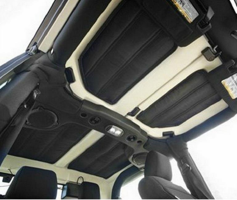 hot sale 4pcs/set Hard Top Insulation Kit Headliner Sound Deadener For Jeep Wrangler JK Unlimited 2/4doors 2012-2016