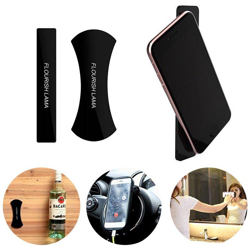 FLOURISH LAMA Nano Rubber Pad Universal Phone Holder Sticker No Trace MultiFunction Car Phone holder Car Bracket Pods for iphone