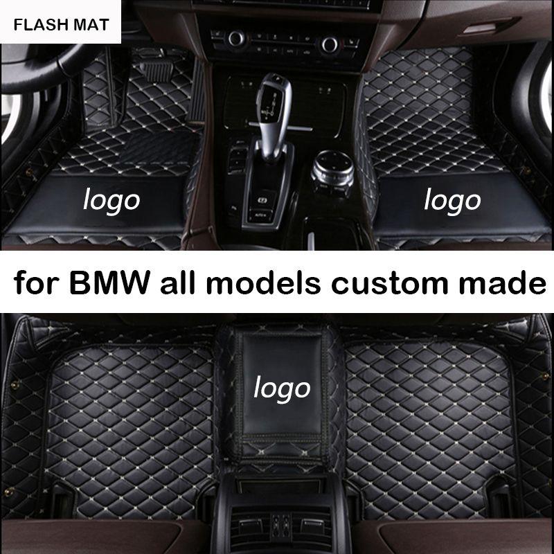 LOGO personnalisé tapis de sol de voiture pour bmw g30 bmw e90 f01 f10 f11 f25 f30 f45 x1 x3 f25 x5 f15 e30 e34 e60 e65 e70 tapis de voiture