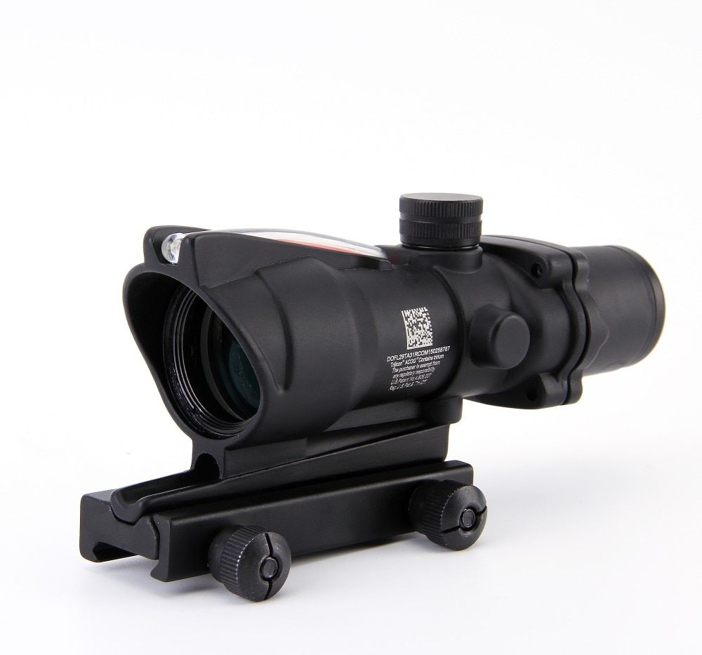 ACOG 4X32 Fiber Source Red Illuminated Scope black color Tactical Hunting Riflescope
