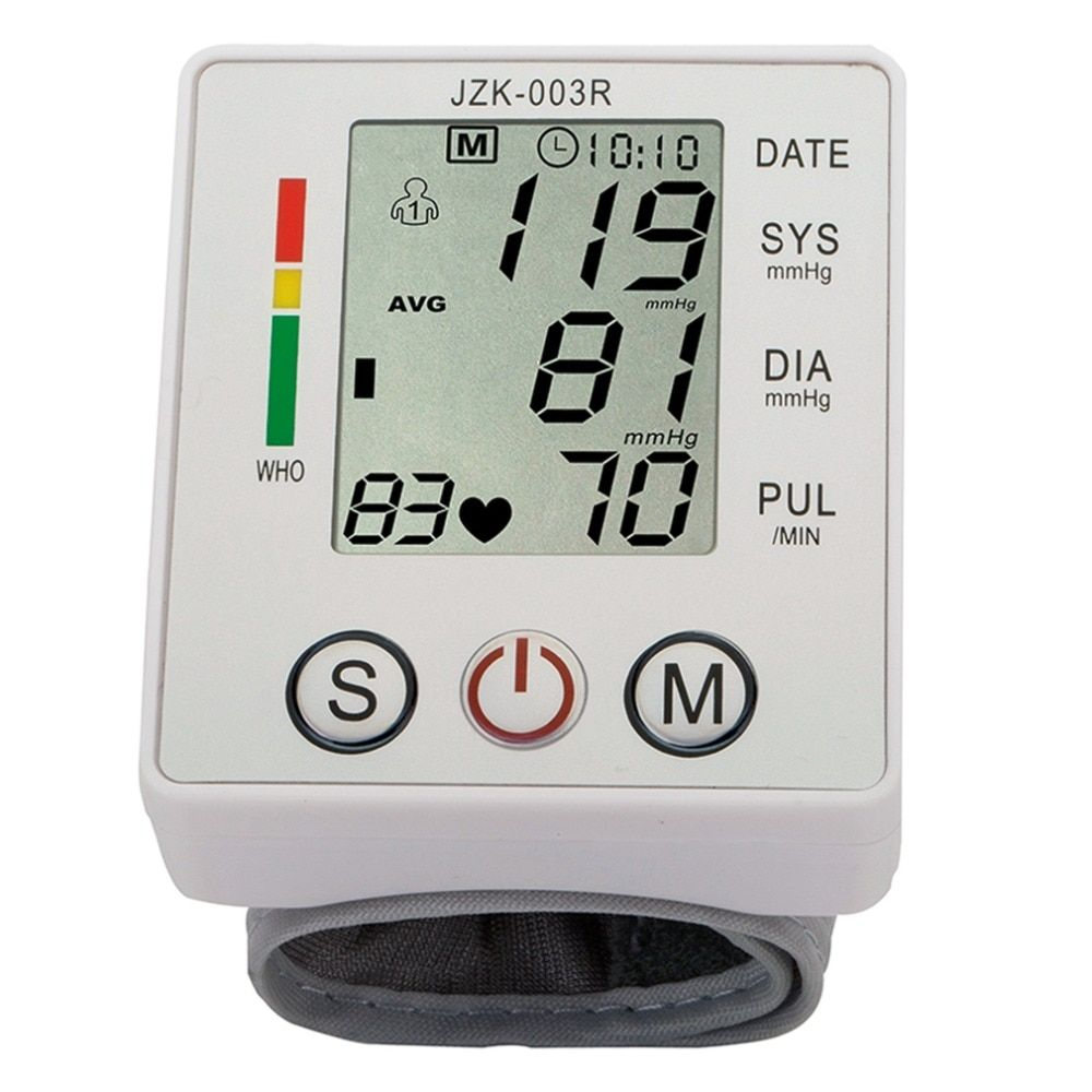 Wrist Blood Pressure Monitor Digital LCD Screen Heart Pulse Monitor Device Home Health Care Measuring Pulse Rate New Sale