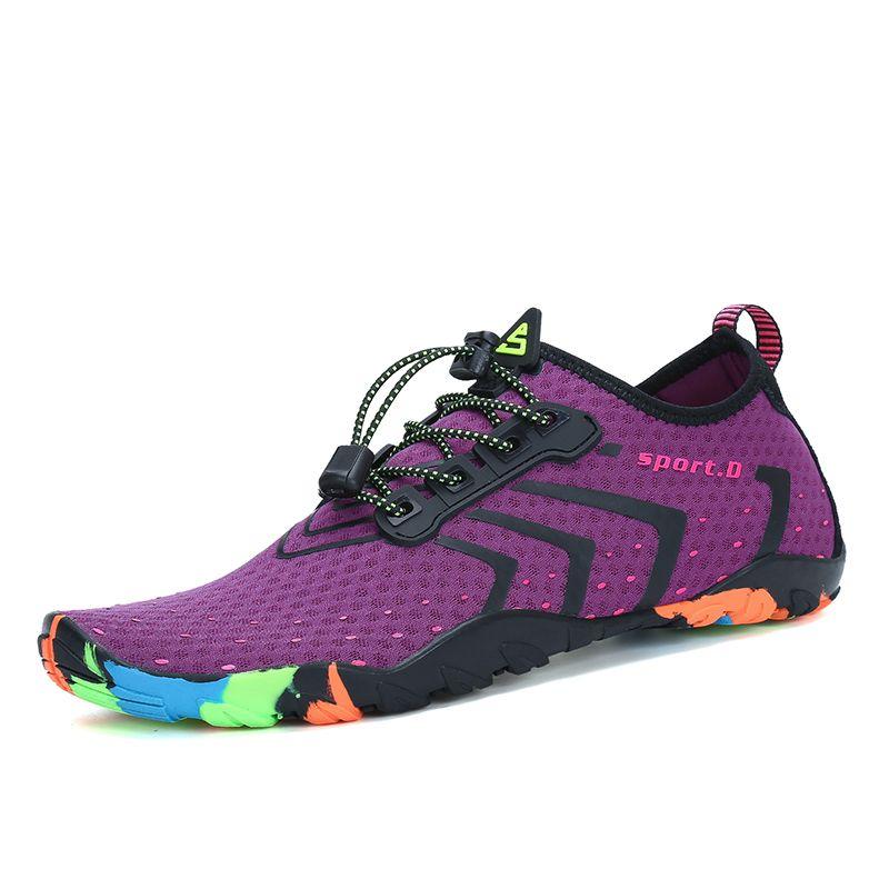 Chaussures d'été Hommes Respirant Aqua Chaussures de Plage Sandales Adulte Pantoufles Sport En Amont Chaussures Femmes Plongée Chaussettes Tenis Masculino