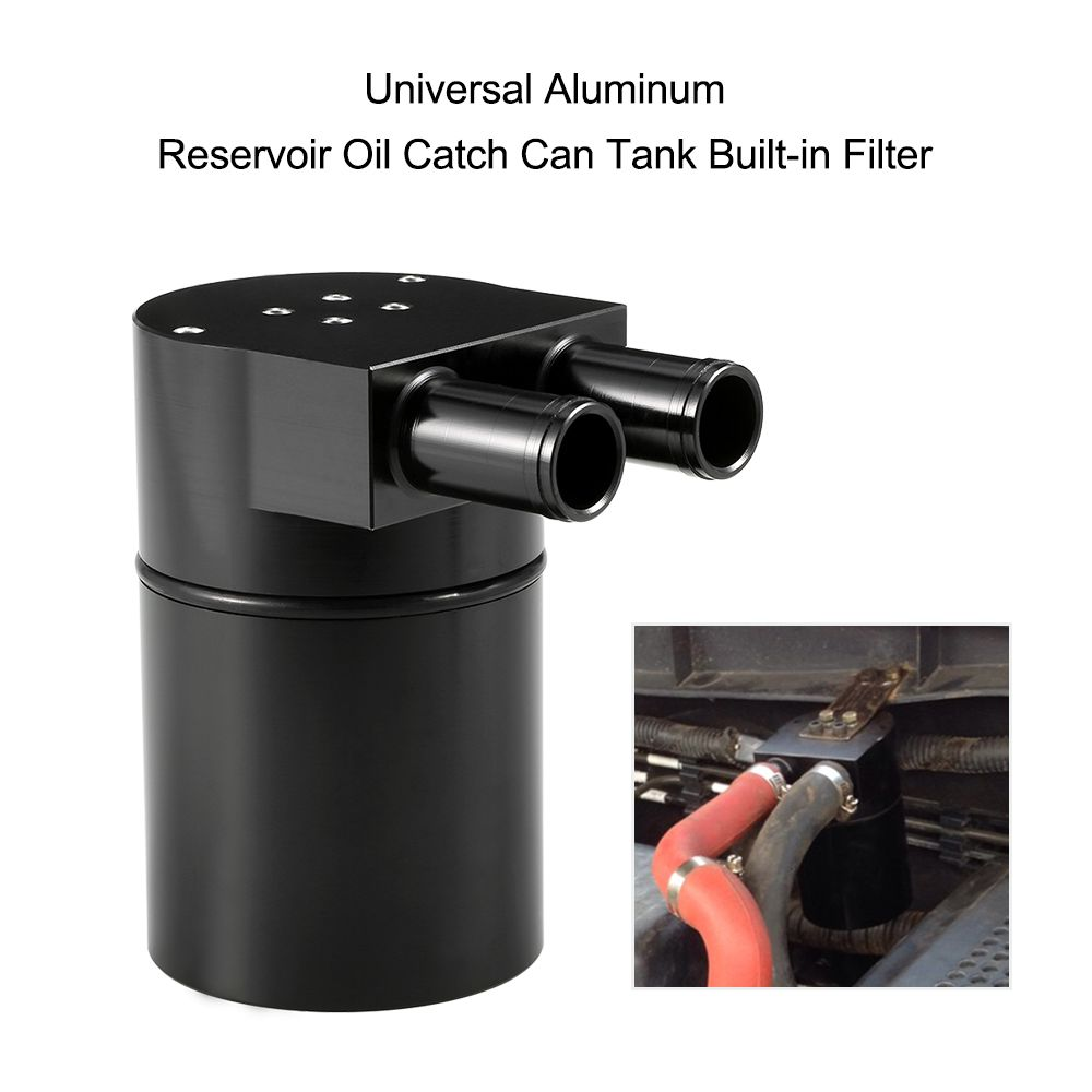 Universal  Reservoir Oil Catch Can Tank High Performance Black Aluminum Alloy Reservior with Built-in Filter for BMW N54 335