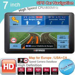 Nouveau 7 pouce HD GPS De Voiture Navigation 800 MHZ FM/8 GB/DDR3 2018 Cartes Pour La Russie/bélarus Europe/USA + Canada CAMION Satnav Caravane Camping-Car