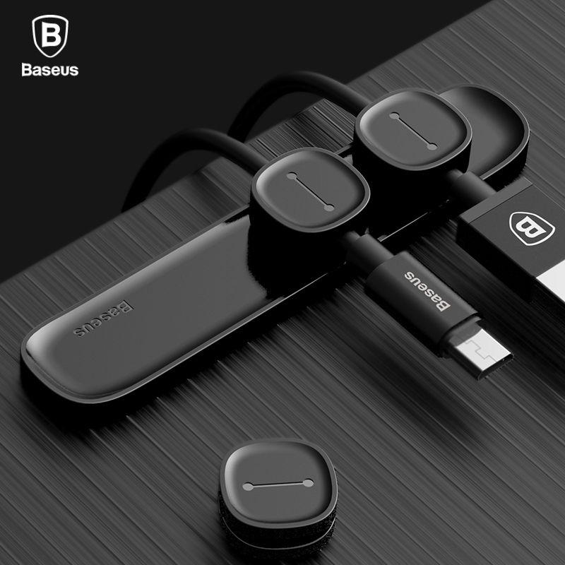 Baseus Magnetische Kabel Organizer USB Kabel Management Wickler Clip Desktop Workstation Draht Kabel Protector Kabel Halter Für iPhone