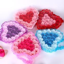 Cool! 24Pcs Heart Scented Bath Body Petal Rose Flower Soap Wedding Decoration Gift Flavor Paper Fancy Soap 2018 Anne