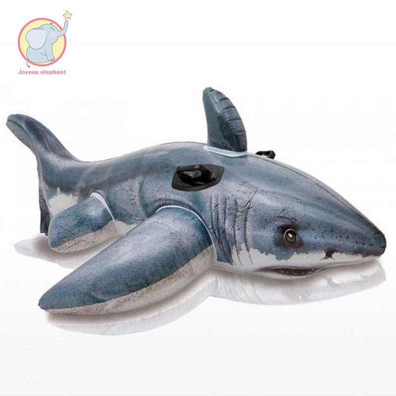 173 cm aufblasbare shark reiten Whale pool float Schwimmen Ring schwimmen kreis Luft Matratze wasser spielzeug für kind erwachsene strand party