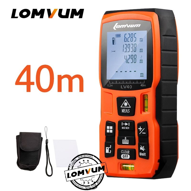 LOMVUM 40m Trena Measure Tape Medidor Laser Ruler Rangefinders Digital <font><b>Distance</b></font> Meter Measurer Range Finder Lazer Metreler