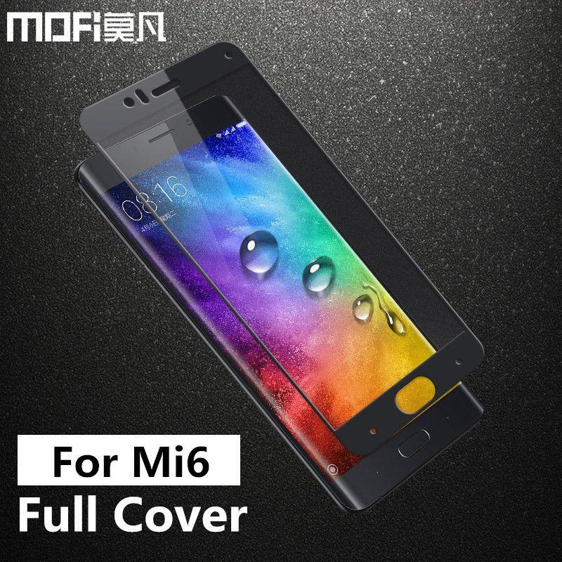 Xiaomi mi 6 verre trempé MOFi original xiaomi mi 6 film protecteur d'écran couverture complète xiaomi 6 mi 6 verre trempé 5.15 pouces