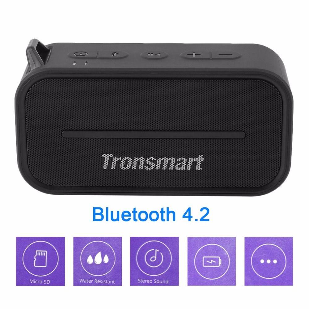 Tronsmart T2 Portable Mini Speaker Water Resistant Bluetooth 4.2 Stereo Sound Loudspeaker Home Theater Party Speaker