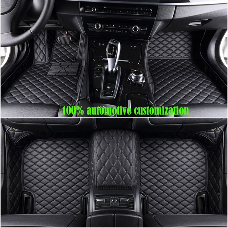 Custom Car floor mats for hyundai getz kia sportage 2018 mazda cx-5 toyota corolla for peugeot 307 sw ford fiesta mk7 car mats