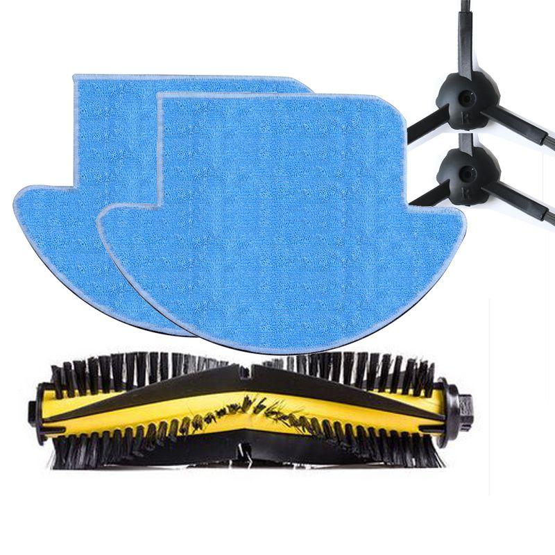 5pcs/set ilife v7s / ilife v7s pro ILIFE V7s Plus robot Vacuum Cleaner Parts kit ( Main Brush*1+mop Cloths*2+Side Brush*2)