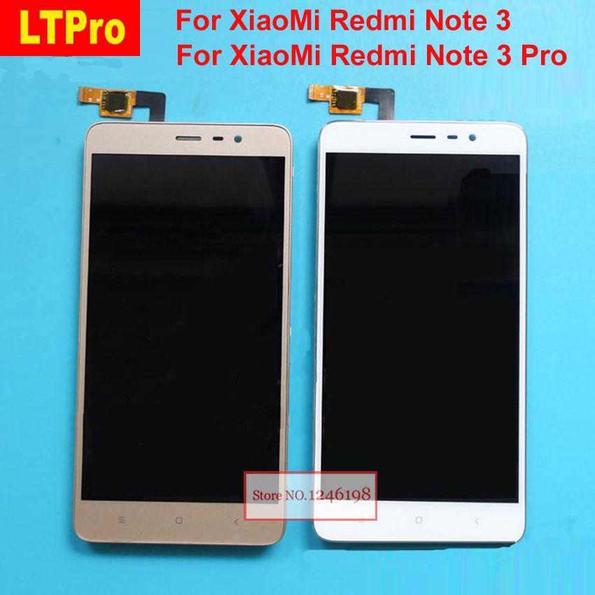 Meilleur travail LCD affichage écran tactile panneau numériseur assemblée avec cadre pour Xiaomi Redmi Note3 Hongmi Note 3 Pro pièces de téléphone