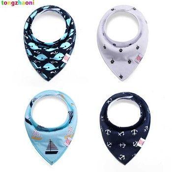 20 design 4pcs/lot ins burp baby bibs saliva towel Arrow animal cartoon cloths triangle cotton bandana accessories