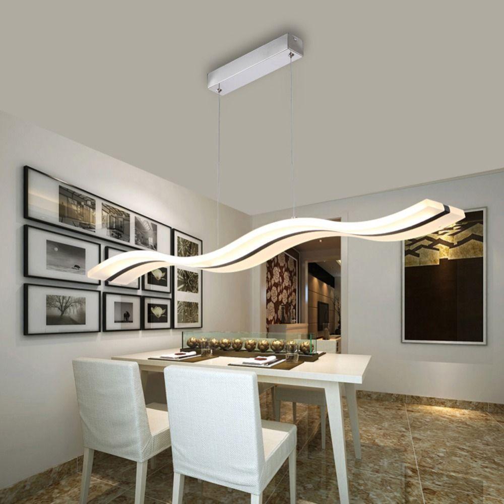 Светодиодная лампа люстра современный акрил Кухня lamparas де TECHO дома Освещение для Обеденная AC85-260V подвесной светильник загорается