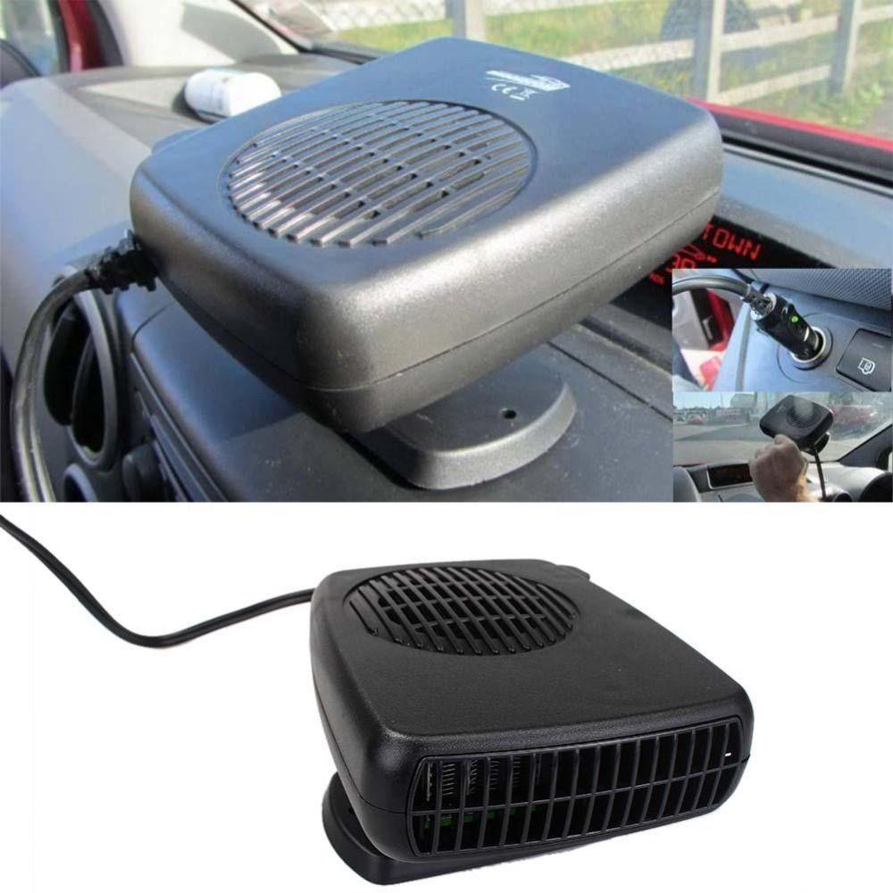 12V Car Heater Hair Dryer Demister & Defroster Cooling Fan Folding Handle Van