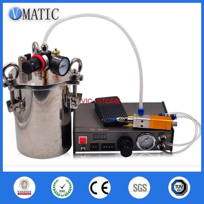 Free Shipping Automatic Quality Glue / Liquid Dispenser Valve Dispensing Equipment With Air Pressure Tank 1L