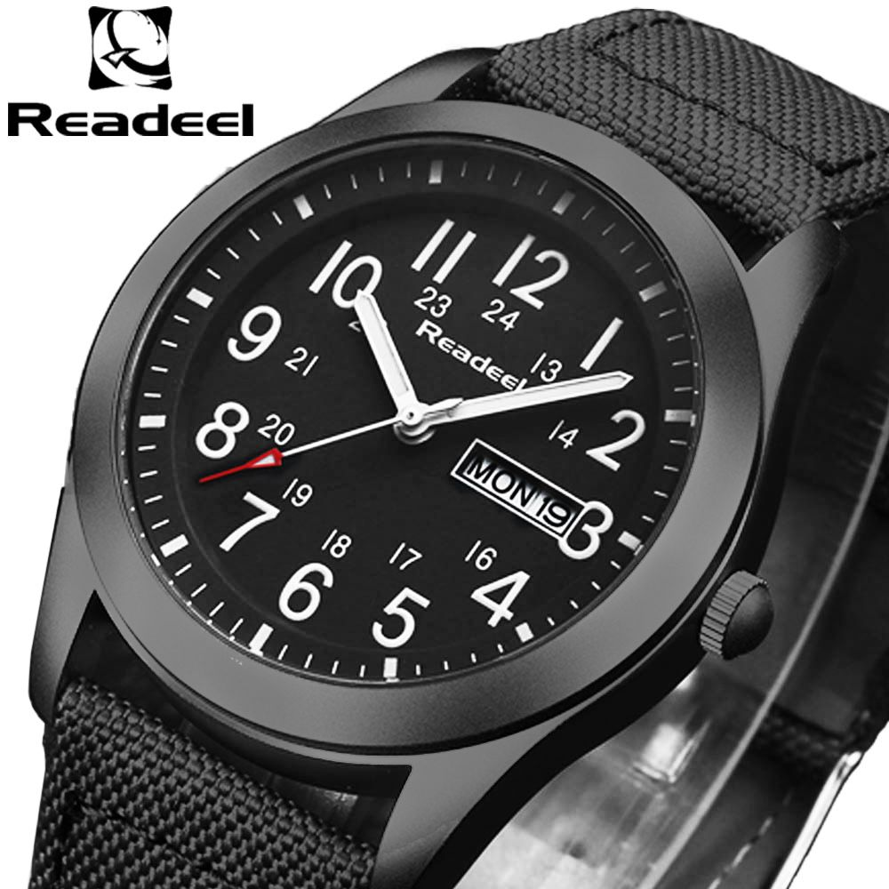 Readeel Brand Fashion Men Sport Watches Men's Quartz Hour Date Clock Man Military Army Waterproof Wrist watch kol <font><b>saat</b></font> erkekle