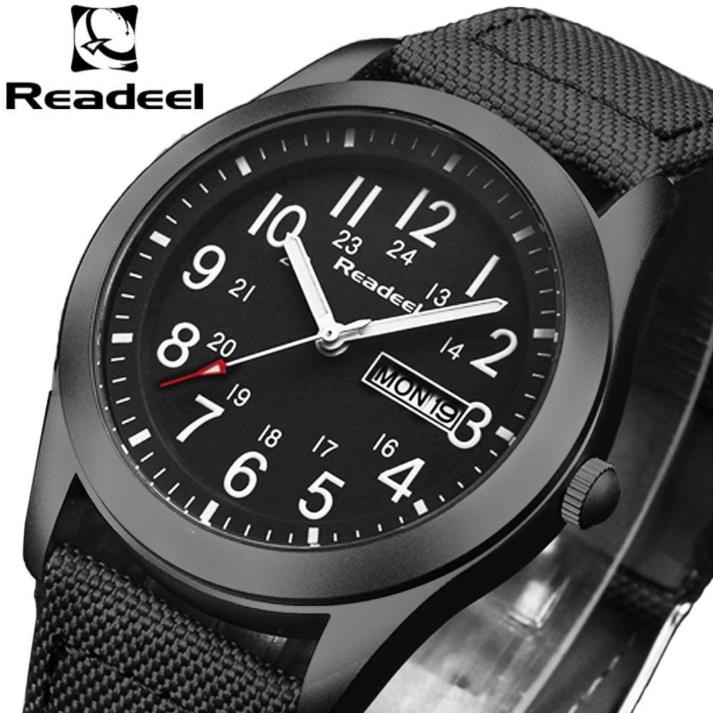 Readeel Marque De Mode Hommes Sport Montres Hommes de Quartz Heure Date Horloge Homme Militaire Armée Étanche montre-Bracelet kol saat erkekle